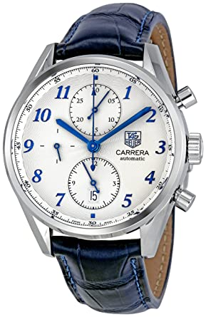 759d1445df2 Tag Heuer Men s CAS2111.FC6292 Carrera Heritage Silver Dial Dress Watch