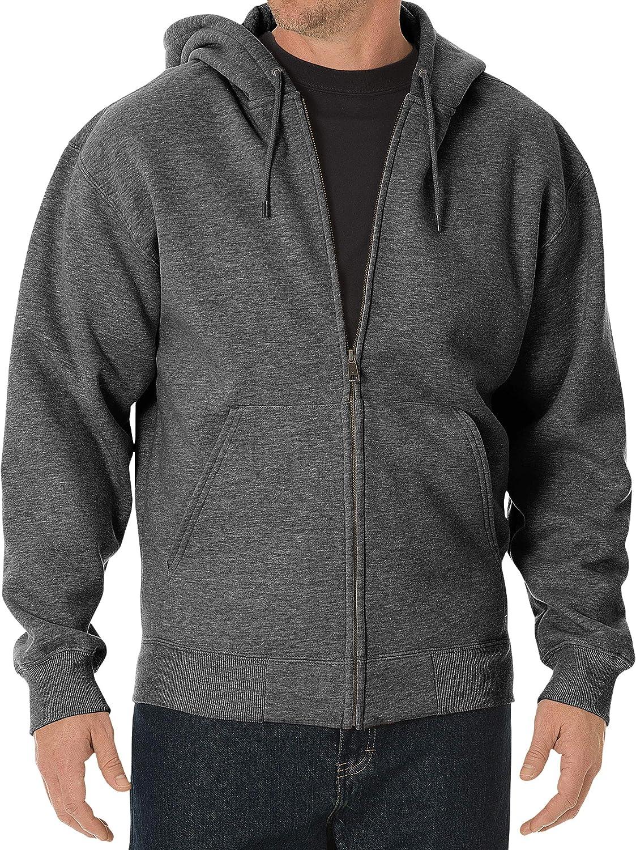 Big /& Tall Men/'s Midweight Fleece Zip Hoodie by Dickies