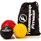 Massage Balls for Trigger Point Therapy, Myofascial Release, Plantar Fasciitis Relief, Muscle Pain, Deep Tissue Neck, Back & Foot Massager - Pressure Points – (2) Spiky Balls & (1) Lacrosse Ball