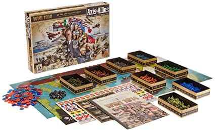Amazoncom Axis and Allies 1914 World War I Board Game Toys Games