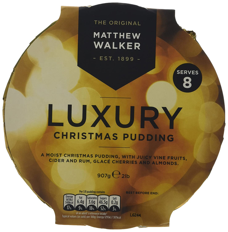 Matthew Walker Luxury Christmas Puddings, 907g, 2 puddings