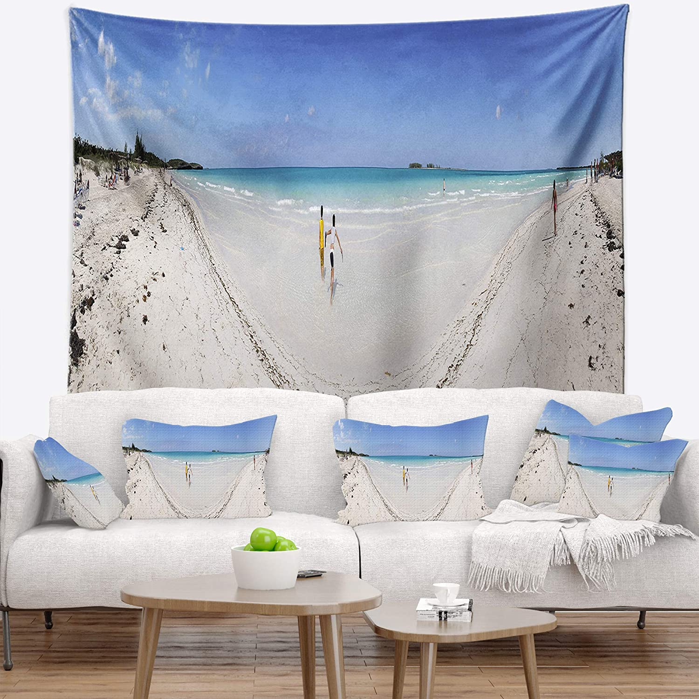 Designart TAP11451-39-32 Cayo Coco Tropical Beach Panorama Wall Tapestry Medium//39 x 32