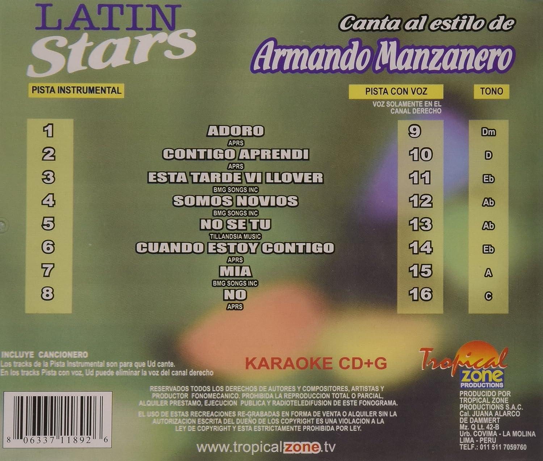 Armando Manzanero - Karaoke: Armando Manzanero, Vol. 1: Latin Stars Karaoke - Amazon.com Music