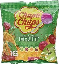 Chupa Chups Sachet de 16 Sucettes Fruit 192 g - Lot de 8