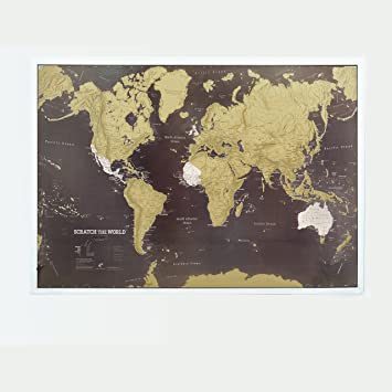 Amazon scratch the world black world map poster scratch scratch the world black world map poster scratch off places you travel cartographic gumiabroncs Choice Image