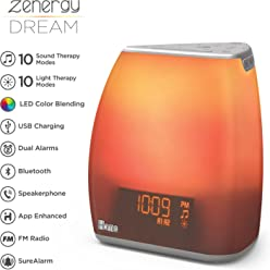 iHome Zenergy Bedside Sleep Therapy Machine Sleep Better, Easier & Longer, Zen Light &