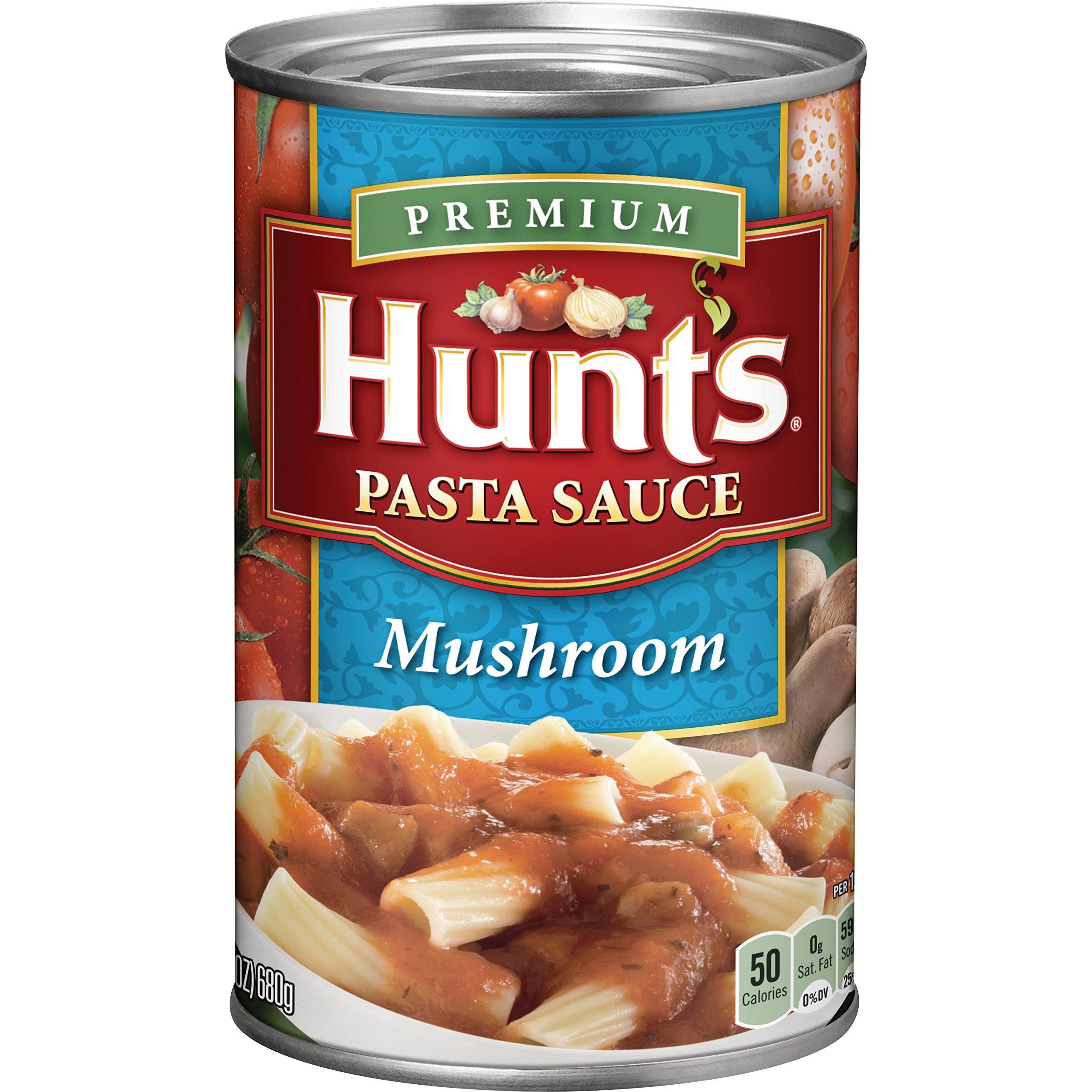 Hunt's Mushroom Pasta Sauce, 24 oz, 12 Pack