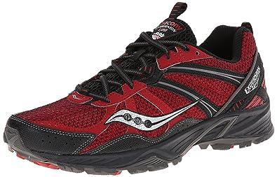 c448e69297 Amazon.com | Saucony Men's Excursion TR8 Running Shoe, Red/Black, 10 ...