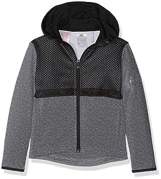 adidas Yb Uf T FZ Hood Sudadera, Niños, (Grpudg/Negro/Nocmét
