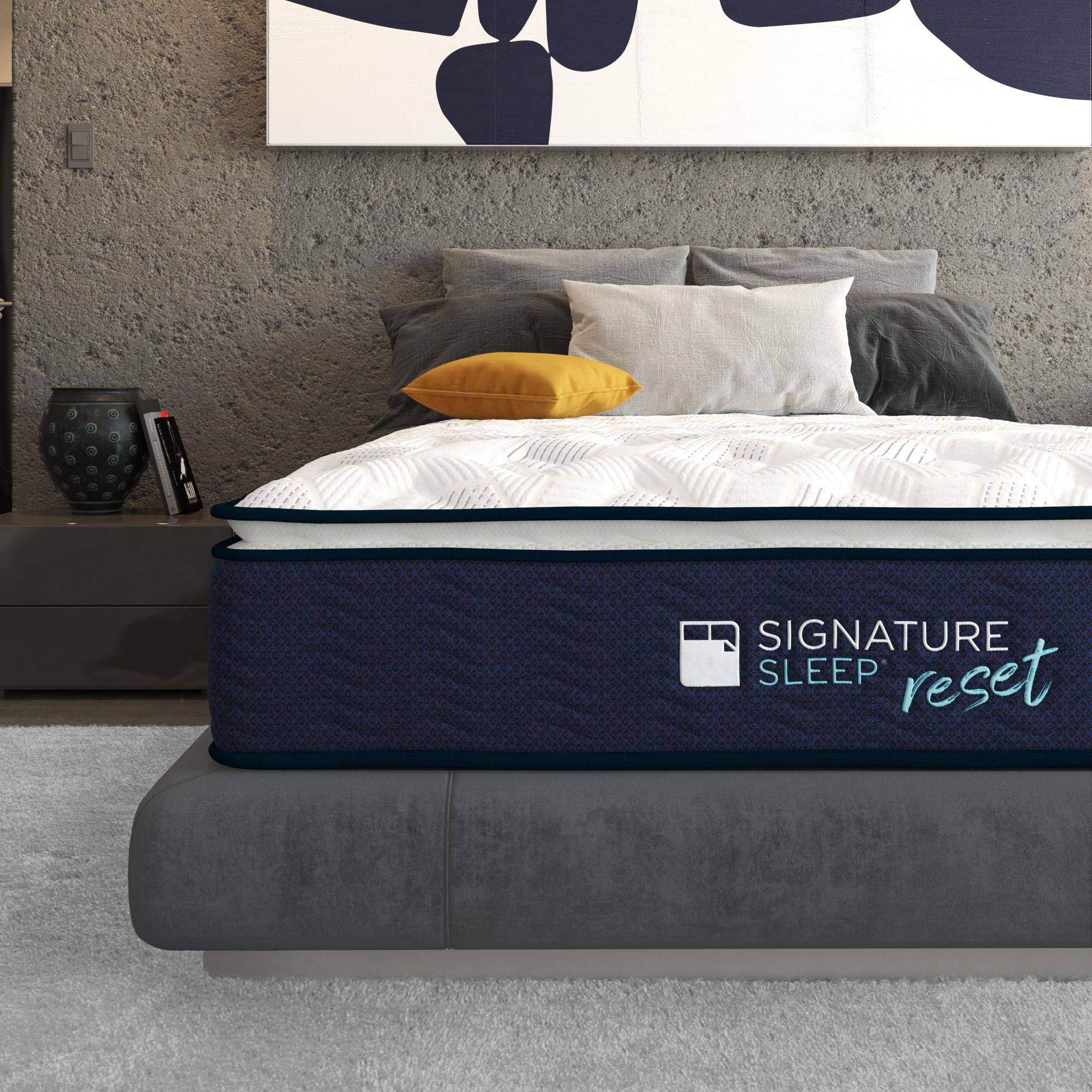 Signature Sleep Reset 12'' Nanobionic Pillow Top Hybrid Mattress, Queen by Signature Sleep