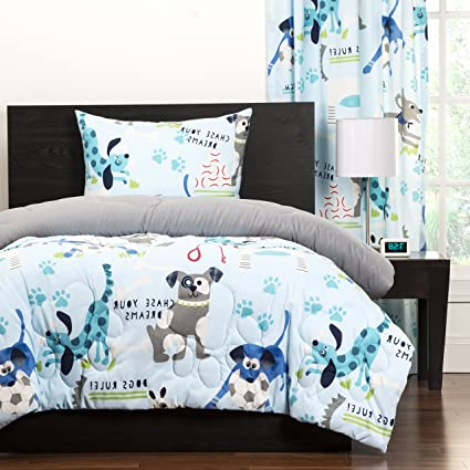Amazoncom 2 Piece Kids Puppies Dogs Comforter Twin Cute Adorable