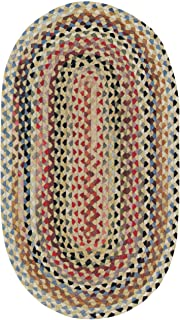 """product image for Capel Rugs St. Johnsbury Oval Braided Runner, 2' 3"""" x 9', Wheat"""