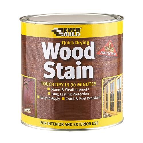 Everbuild EVBWSAP750 Quick Dry Wood Stain Satin Antique Pine 750 ml