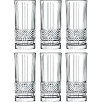 Highball - Glass - Set of 6 - Hiball Glasses - Lead Free Crystal - Beautiful Designed - Drinking Tumblers - for Water…