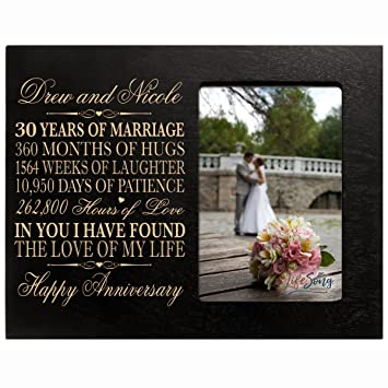 Amazon Personalized 30th Year Wedding Anniversary Picture