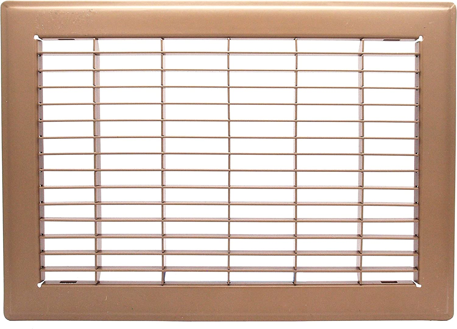 """8"""" X 12"""" Floor Grille - Fixed Blades Air Grill - Brown [Outer Dimensions: 9.75 X 13.75]"""
