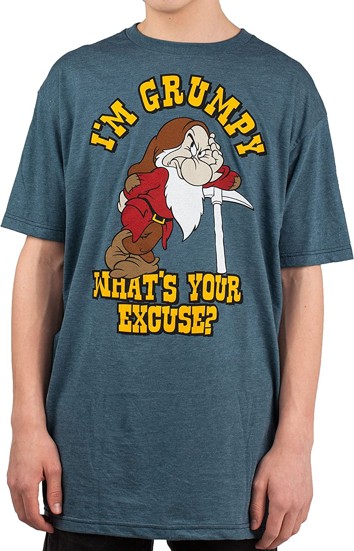 Disney I'm Grumpy Dwarf Snow White Mens T-Shirt