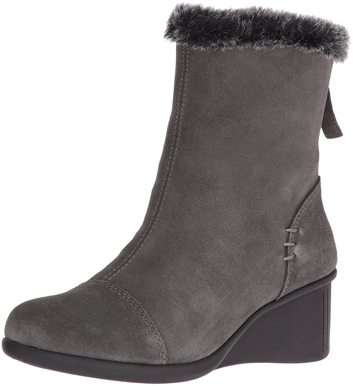 Aerosoles Women's Bravery Boot B01KI8O7NY 9.5 B(M) US|Grey Suede