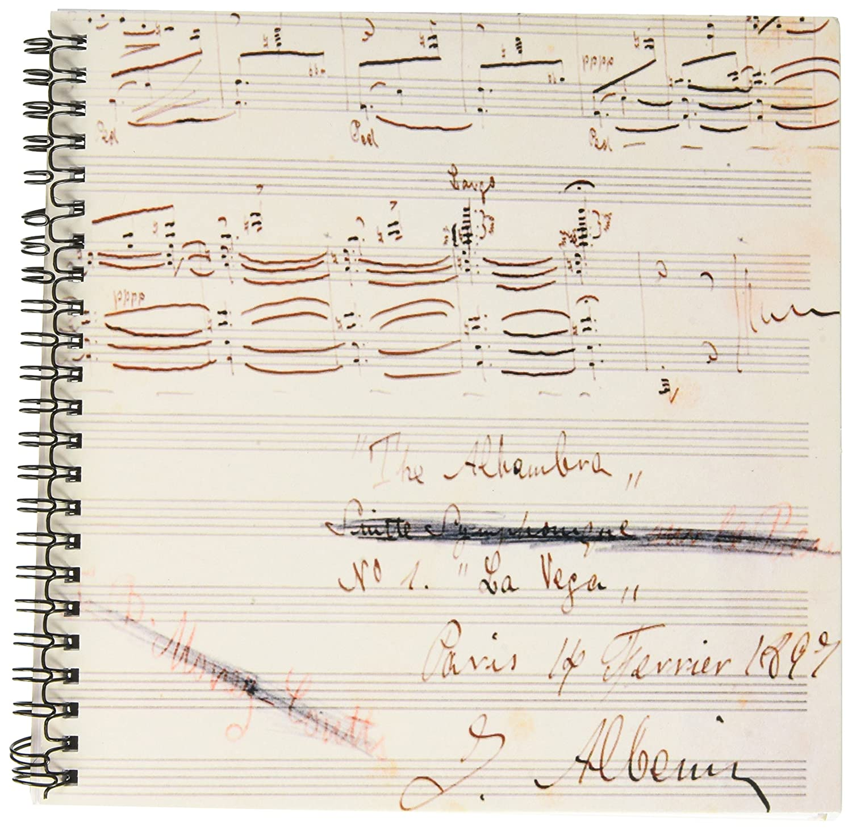 3dRose db_83070_1 アイザックアルベニス、スペイン語作家、音楽の原稿 HI13 PRI0123 プリズマ描画帳、20.32×20.32cm B00JSTSALK