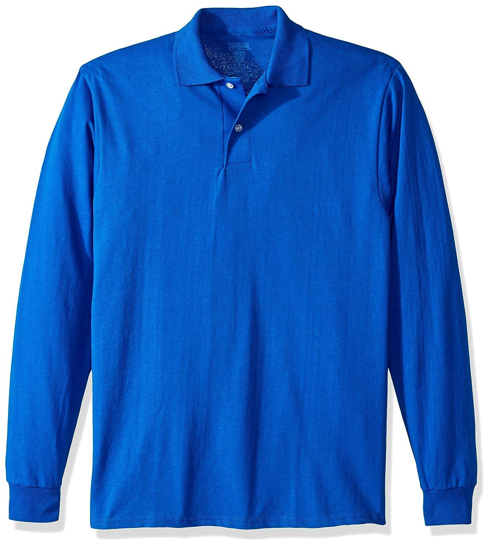 Jerzees Mens Standard Spot Shield Long Sleeve Polo Sport Shirt