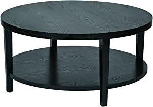 OSP Home Furnishings Merge Round Coffee Table, 36