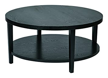 High Quality Ave Six OSP Furniture Merge Round Coffee Table, 36u0026quot;