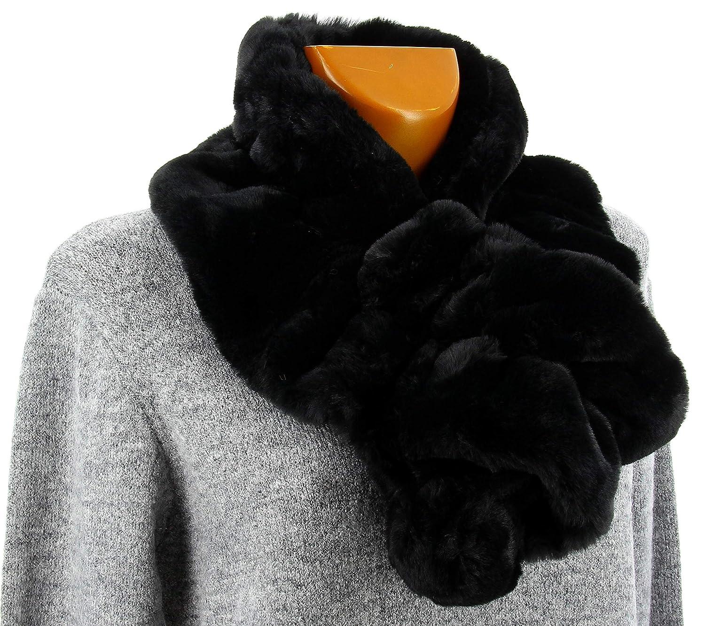 Charleselie94® - Écharpe femme fausse fourrure chic noir JASMINE NOIR   Amazon.fr  Vêtements et accessoires 40cbac9f8d7
