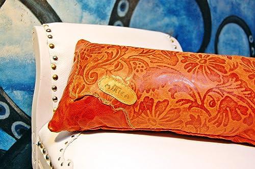 Cojín Artesanal en Cuero Brocado.: Amazon.es: Handmade