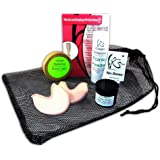 Ballet Pointe Shoe Accessory Bundle - Toe Pads, Mesh Bag, Pointe Snaps, Tape, Powder, Rosin - Perfect for any Pointe Shoe owner!