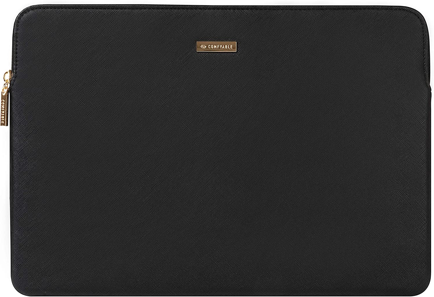 Comfyable Laptop Sleeve 13-13.3 inch for MacBook Pro & MacBook Air, PU Leather Waterproof Cover Notebook Case for Mac, Black