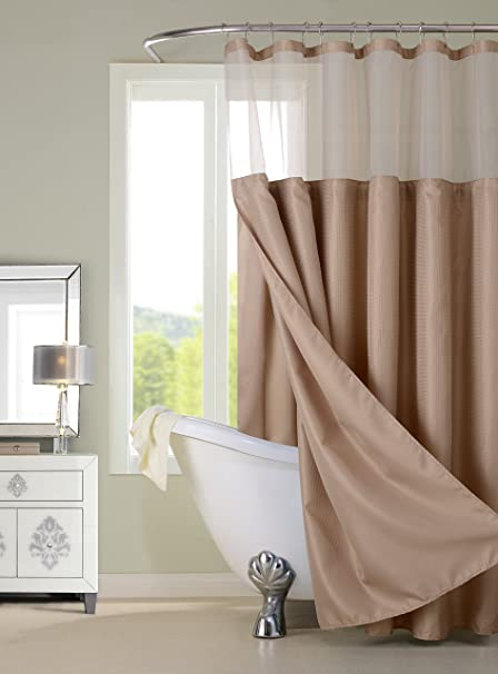 Amazon.com: Dainty Home CSCDLMO Waffle Shower Curtain Complete ...