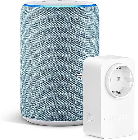 4./ª generaci/ón Nuevo Echo Dot enchufe inteligente WiFi compatible con Alexa Antracita Smart Plug