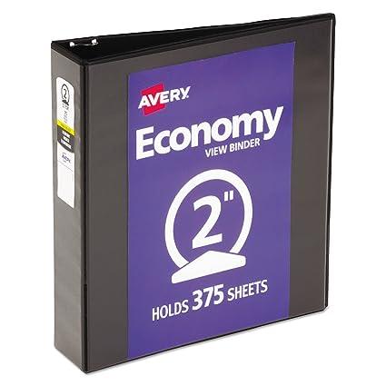 amazon com avery economy view binder with 2 inch round ring black