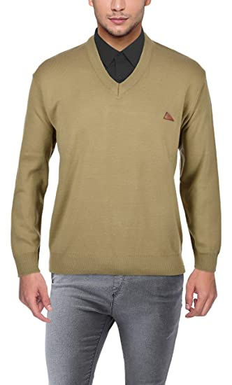 1e92331f Roshni Oswal Men's Daffodil Wool Sweater (14 beige--38, Beige, ...