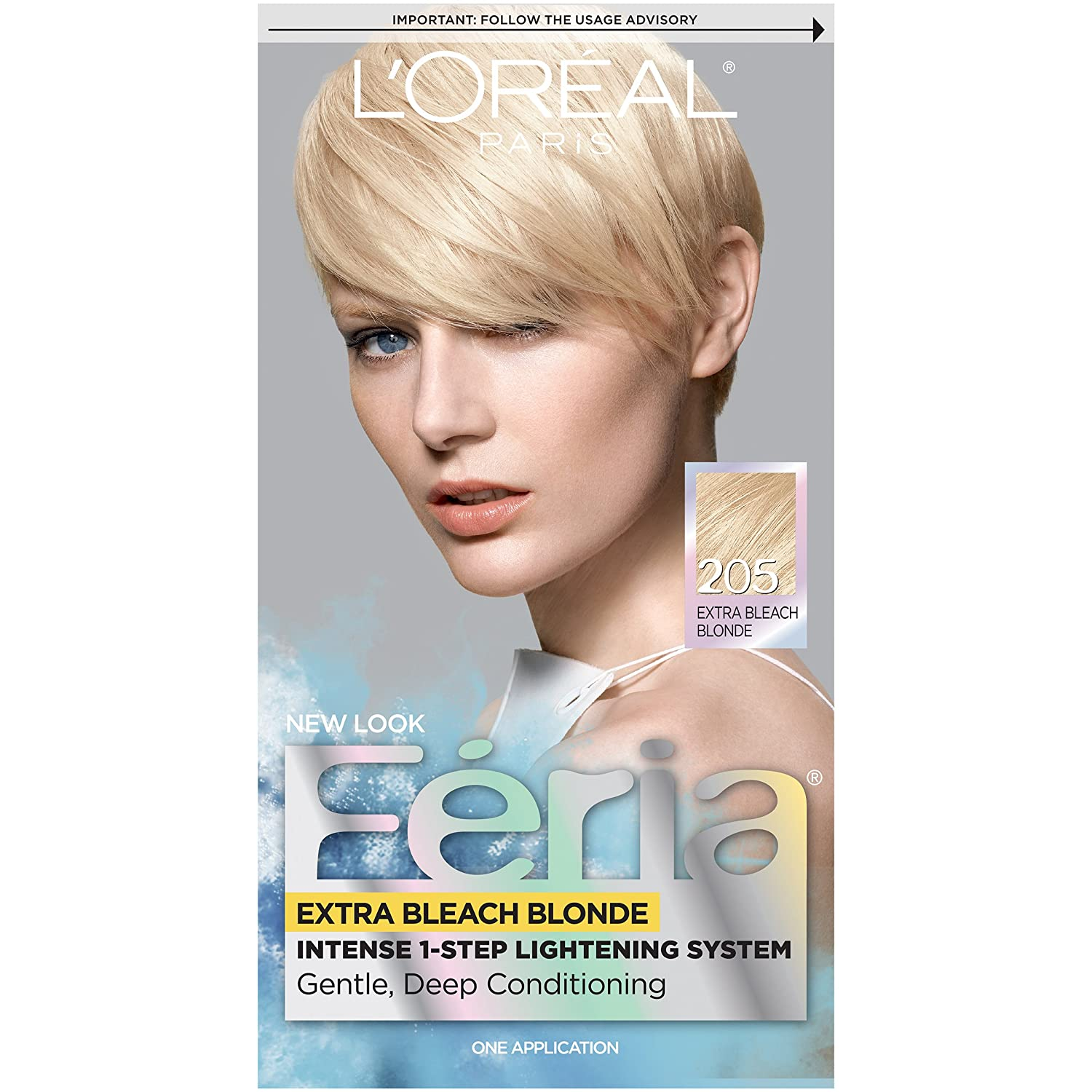 The look at home using l oreal paris feria smokey pastels in p2 smokey - Amazon Com L Or Al Paris Feria Permanent Hair Color 205 Bleach Blonding Extra Bleach Blonde Hair Highlighting Products Beauty