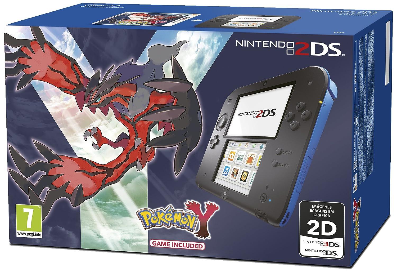 Nintendo 2Ds - Consola HW, Color Azul Y Negro + Pokemon Y: Amazon ...