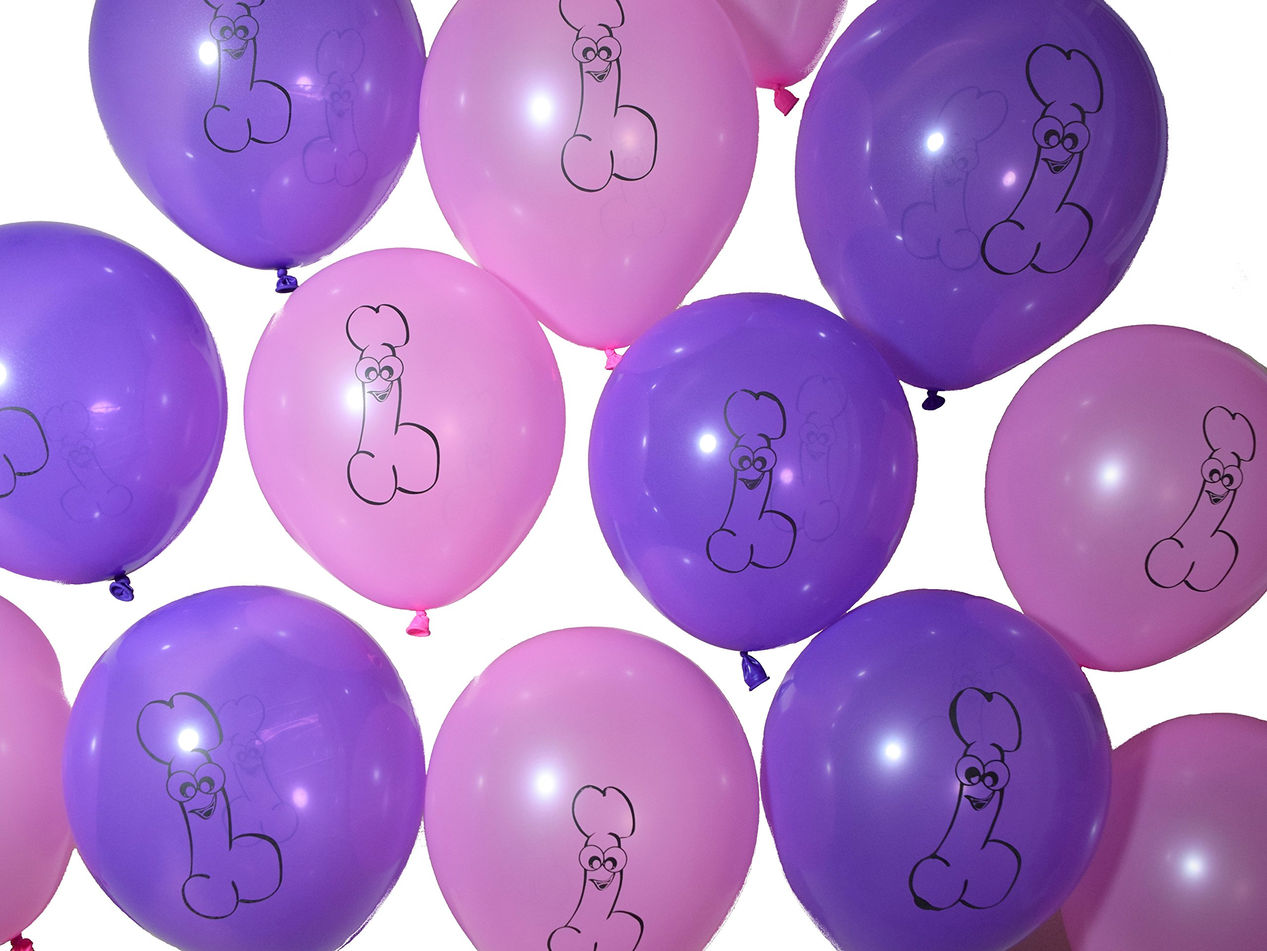 Peckerations Awesome Airheads Pink and Purple Party Balloons 20 Pack