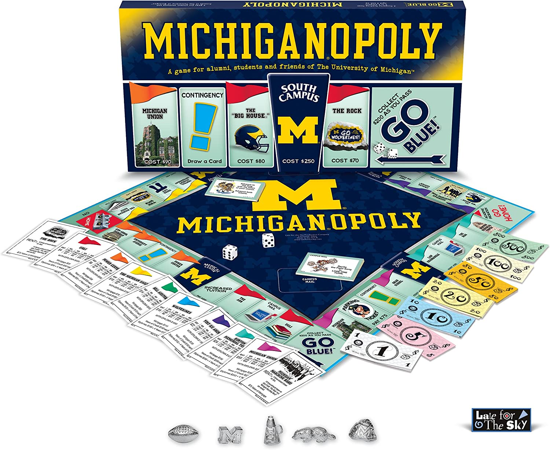 B0006HCVTA Late For The Sky University Of Michigan Monopoly 91NNtvS4ebL.SL1500_
