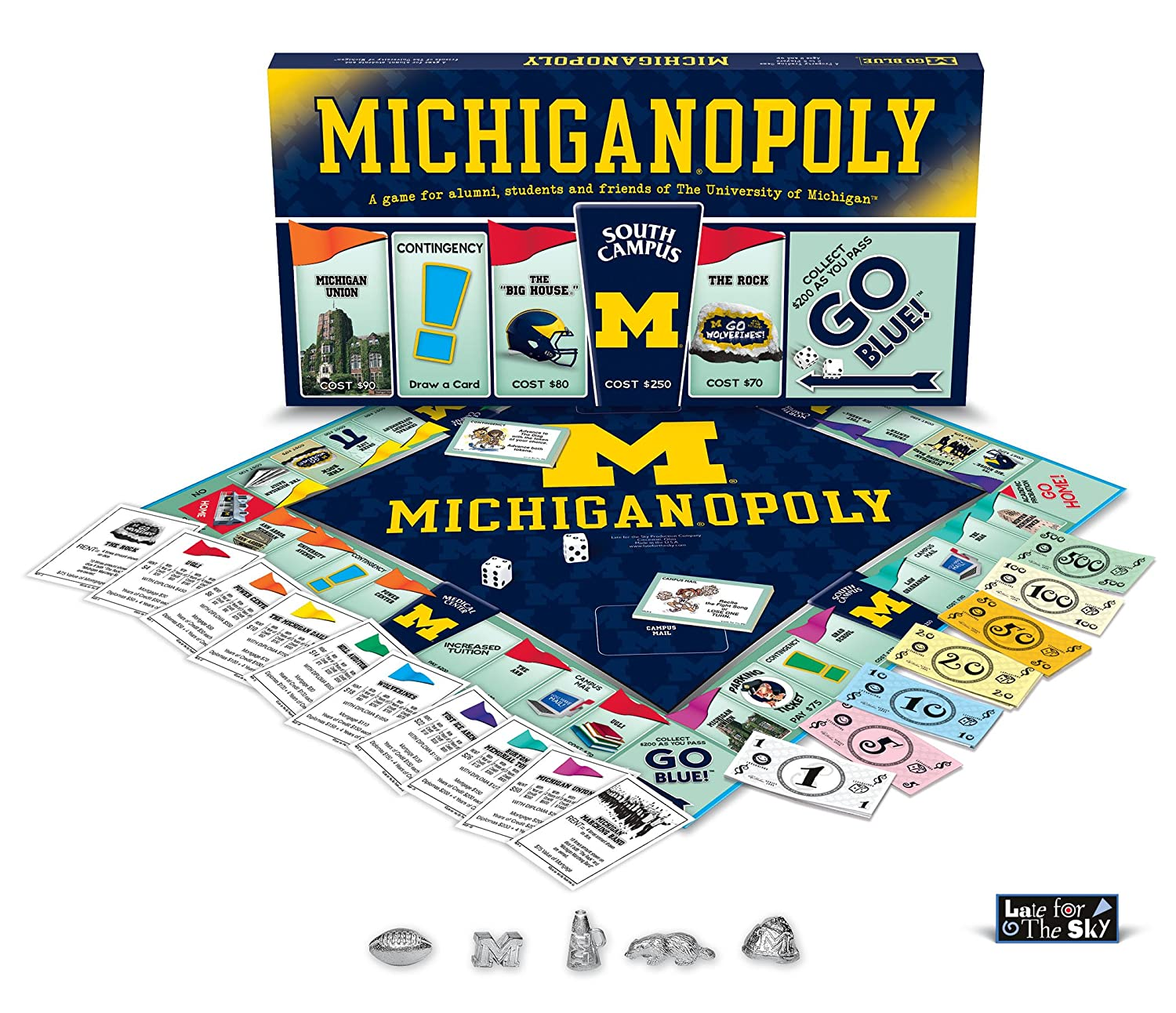 Amazon Late For The Sky University Michigan Monopoly Toys