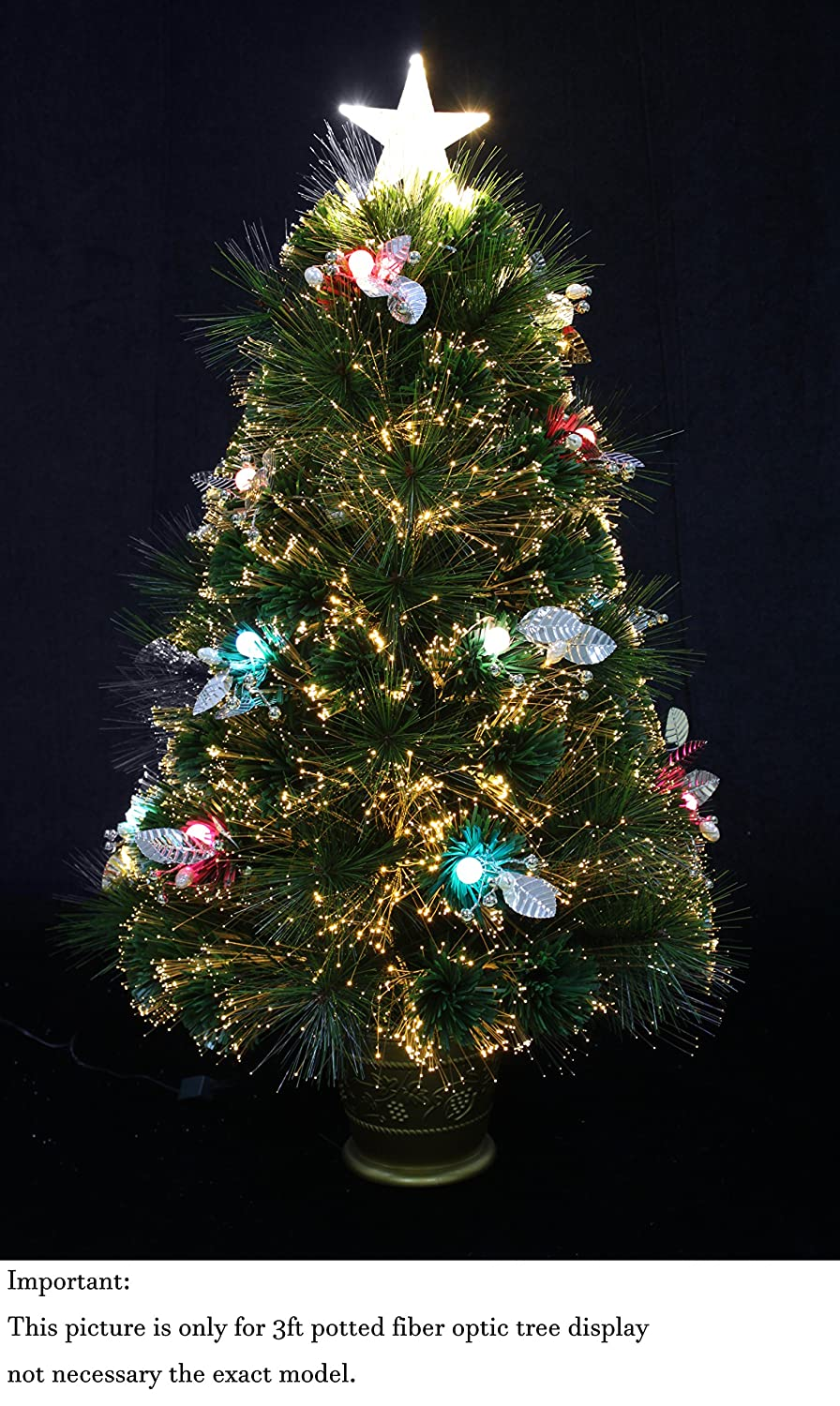 Amazon.com: Snowy White Pine Pre-lit Flocked Christmas tree/Flocked ...