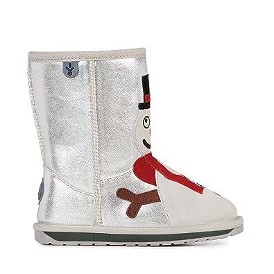 815dfac2394dcf EMU Australia Kids Snowman Deluxe Wool Boots Size 1 Silver