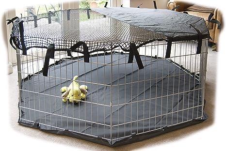 Speedwellstar Parasol de 8 Lados para Mascotas Ligeras, Diseño de Jaula de Perro