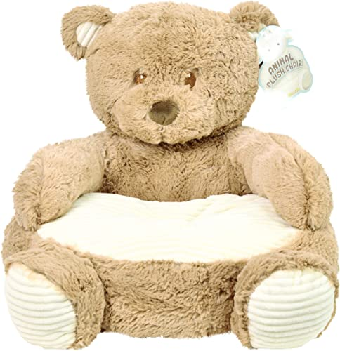 Brown Bear 18 Plush Baby Chair W Corduroy Trim