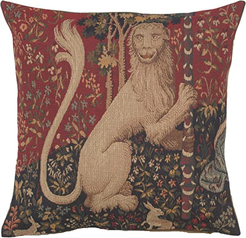 C Charlotte Home Furnishings Inc The Lion French Tapestry Decorative Cushion