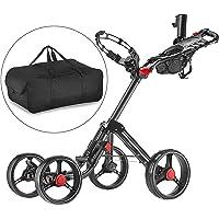 Caddytek Superlite Explorer 4roues chariot de golf, gris foncé avec sac de rangement