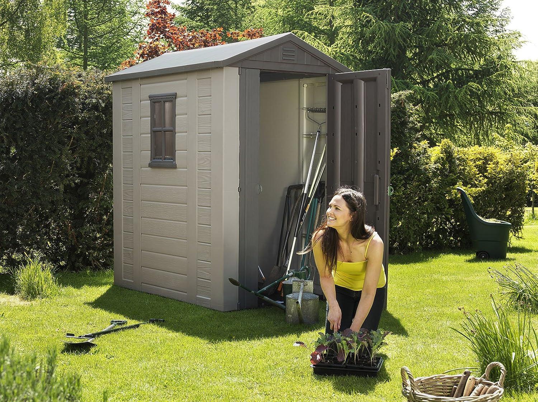 Amazon.com : Keter Factor Large 4 X 6 Ft. Resin Outdoor Backyard Garden  Storage Shed : Storage Sheds : Garden U0026 Outdoor