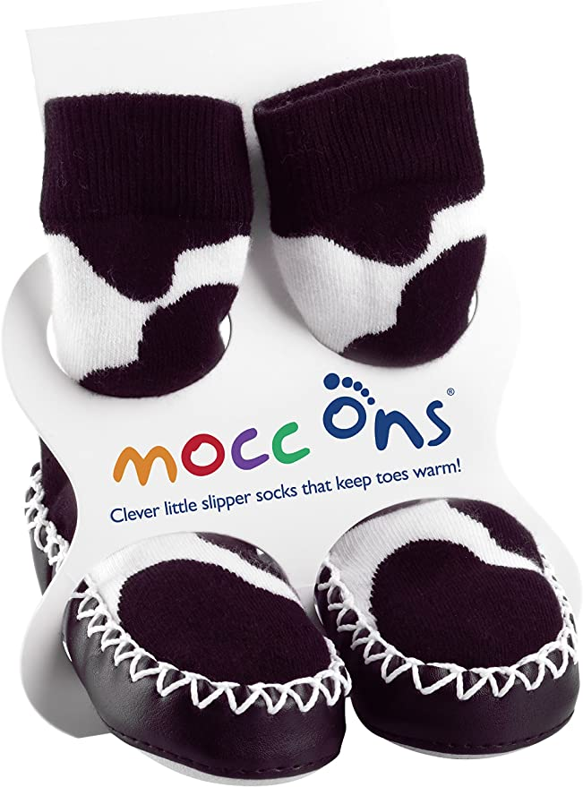 Floral Ditsy Mocc Ons Clever Little Moccasin Style Slipper Socks for Kids