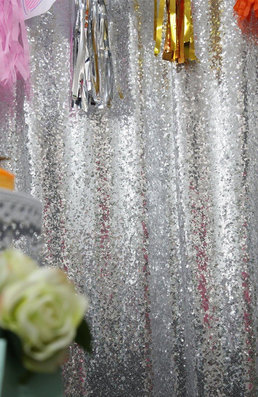 Shinybeauty Silber Pailletten Foto Hintergrund Hochzeit Vintage Fotografie Hintergrund Silber 8ft X 7ft Küche Haushalt