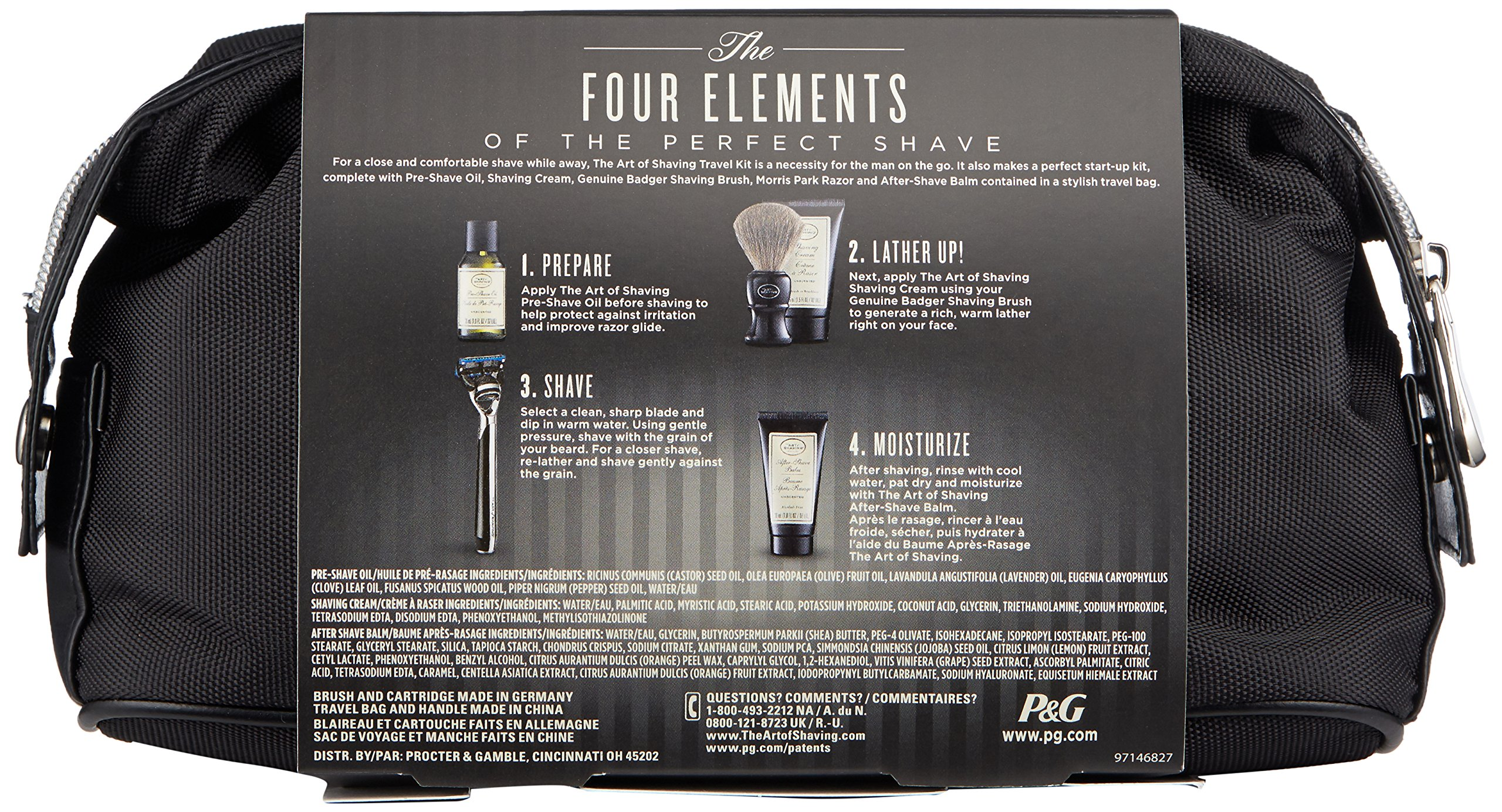 The Art of Shaving 5 Piece Travel Kit with Morris Park Razor, Unscented by The Art of Shaving (Image #1)