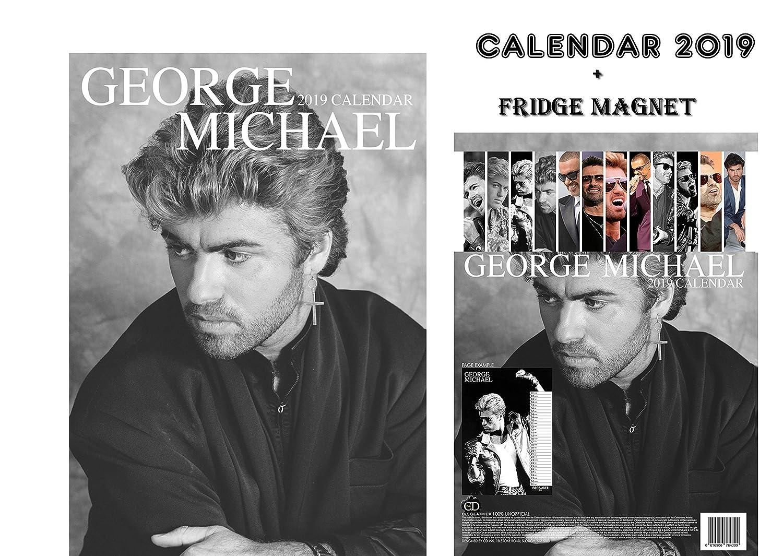 GEORGE MICHAEL CALENDARIO 2019 + GEORGE MICHAEL CALAMITA DA FRIGO OC CALENDAR